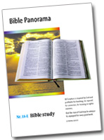 Bible Study booklet 'Bible Panorama'